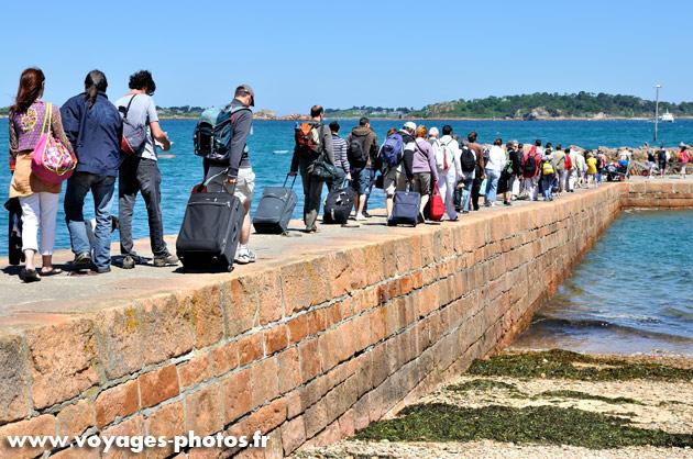 Embarquement pour l'ile de Bréhat