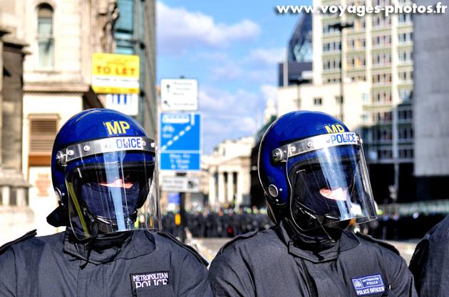 Policiers à Londres