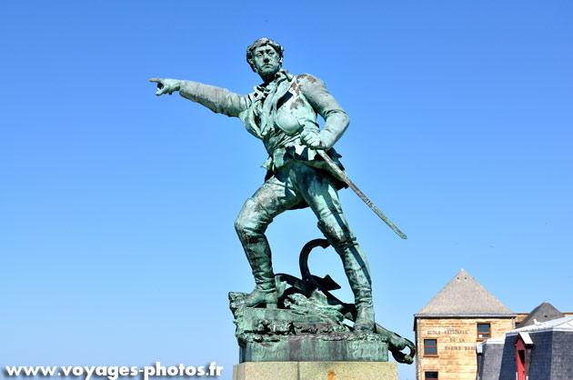Le corsaire Surcouf à Saint-Malo