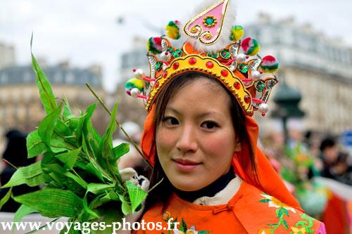 Visage féminin chinois