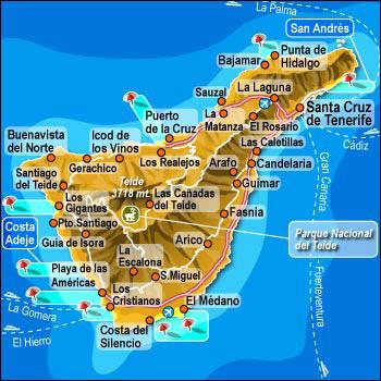 Carte Tenerife.Vous Avez Cherche Iles Canaries Tenerife Carte Arts Et Voyages