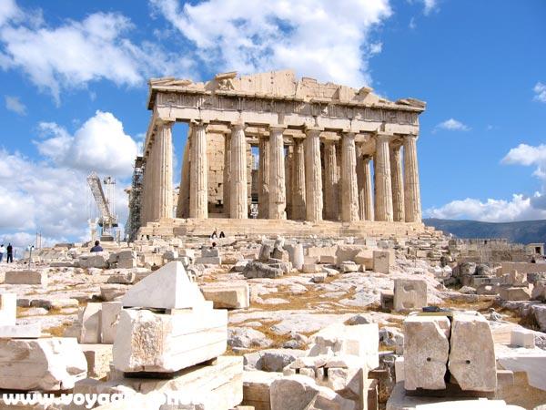 Photo du Parthénon sur l'acropole à Athènes en Grèce